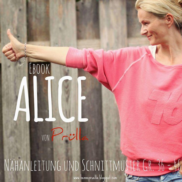 Prülla: Ebook ALICE - ein Raglan Fledermaus Sweater