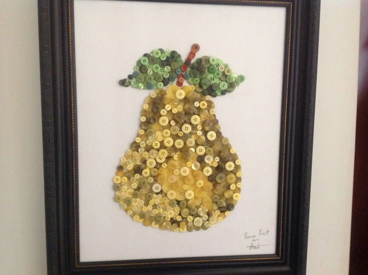 Pear made from buttons