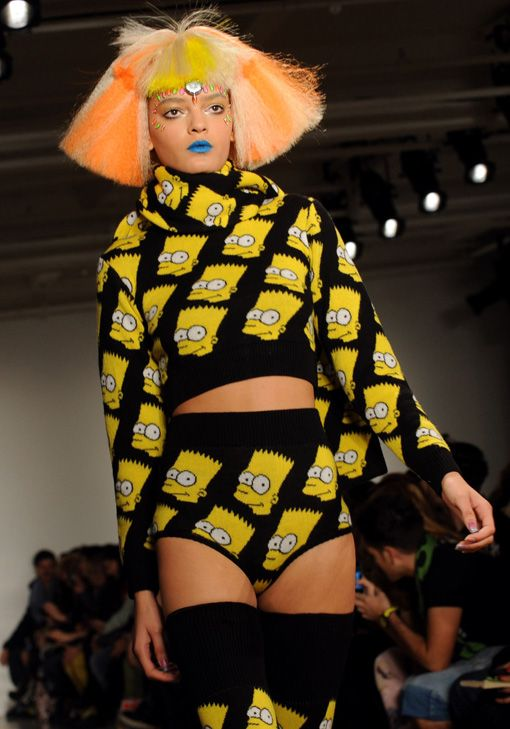 Bart Simpson high fashion? NO TO THIS.