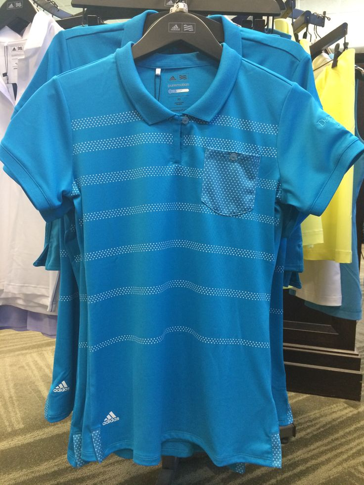 @adidasgolf Puremotion ladies polo available at www.desertwillow.com #golfisgreat #adidas #ladiesapparel #golf