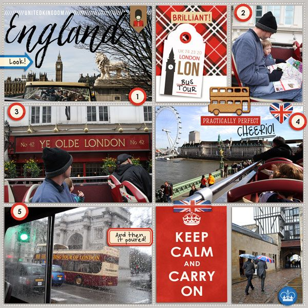 London England Tower Bridge Project Life Layout page using Project Mouse…