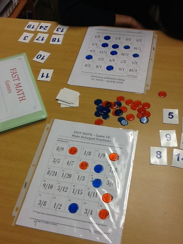 My fast math games for fractions, multiplying and decimals with percents. Available to purchase at abletolearn.net