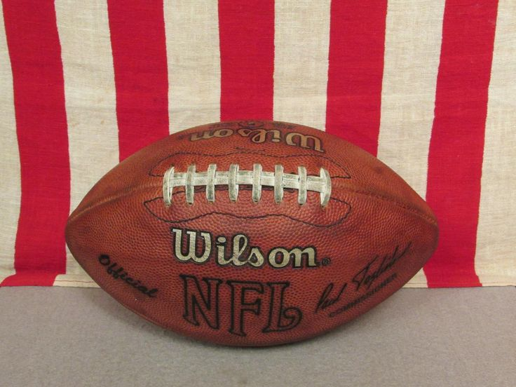 Vintage Wilson NFL Official Leather Football w/ Laces Paul Tagliabue Model Ball
