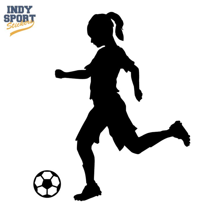 Soccer Player Girl Silhouette Kicking Ball Decal or Sticker for your car, window, laptop or any other flat surface.