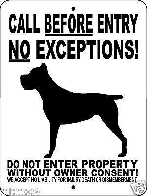 "CANE CORSO DOG SIGN, Guard Dog,9""x12"" Aluminum Sign,Gate Sign,Dog Sign,CBECC"