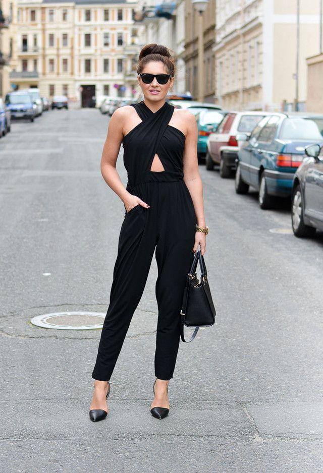 17 best ideas about Black Jumpsuit Outfit on Pinterest | Black ...