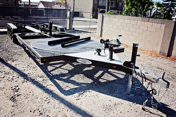 Preowned Shad Combo Boat Pwc Atv Trailer With Turntable