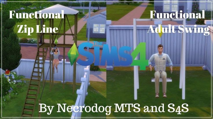 The Sims 4: Mod Review (Functional Zip Line and Adult Swing)