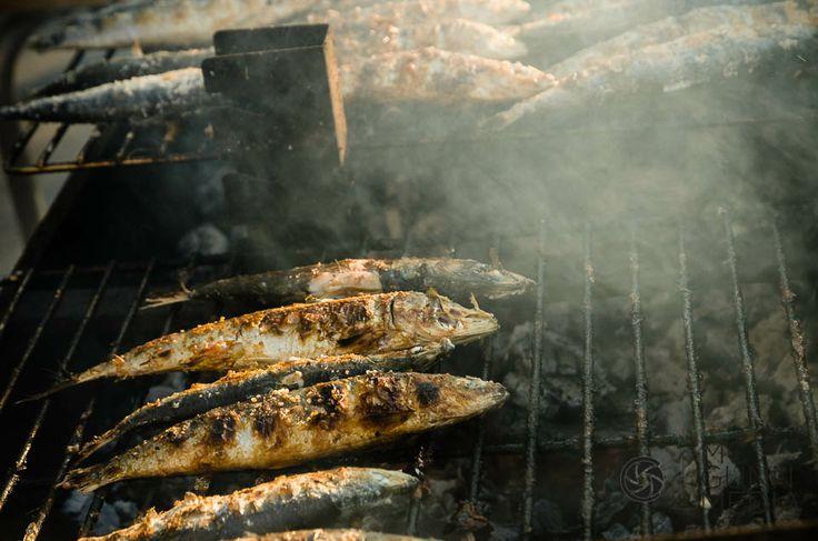 Sardines - Street vendors sell sardines during the family festival of São João