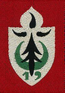 12eme Chasseurs-19eme Division d´Infanterie-division de le Z.O.C