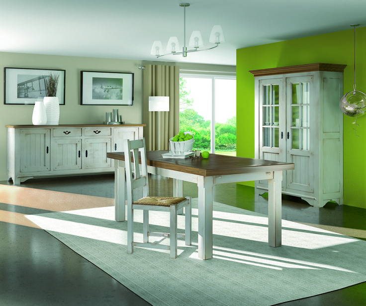collection annecy table chaises bahut vitrine. Black Bedroom Furniture Sets. Home Design Ideas