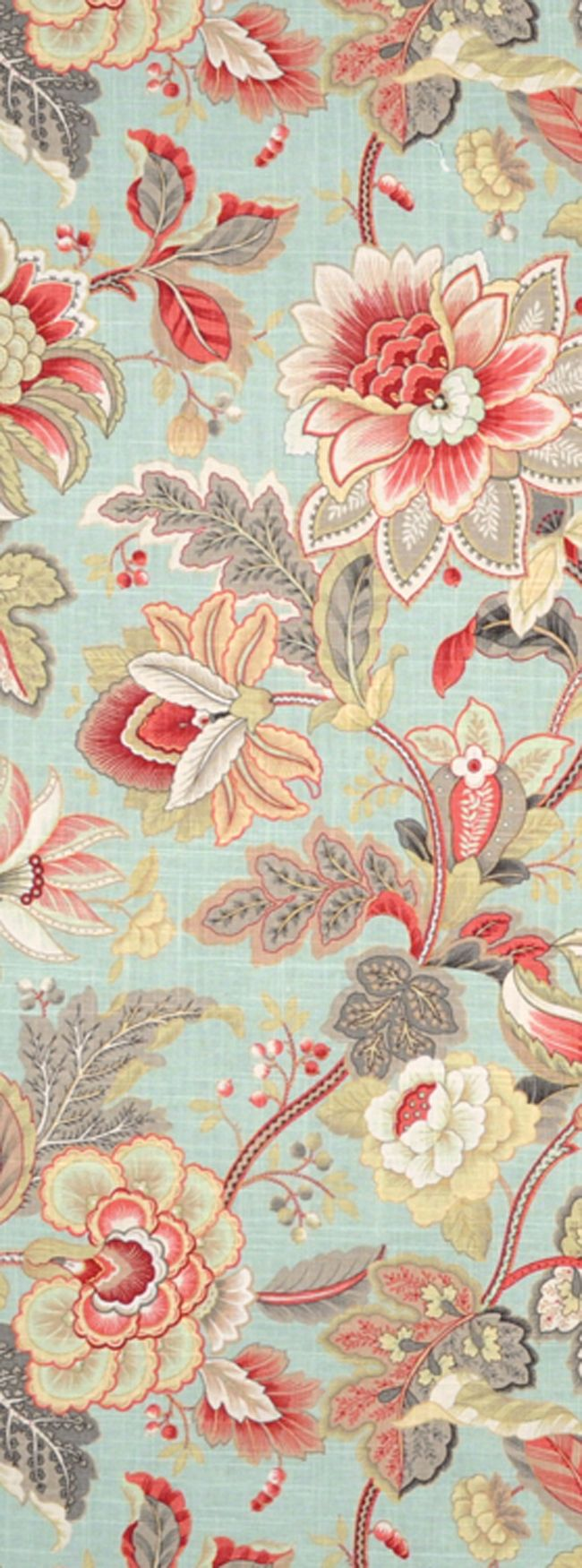 Swavelle / Mill Creek Venezia Dew Fabric featuring blue, gray and coral $22.45 per yard