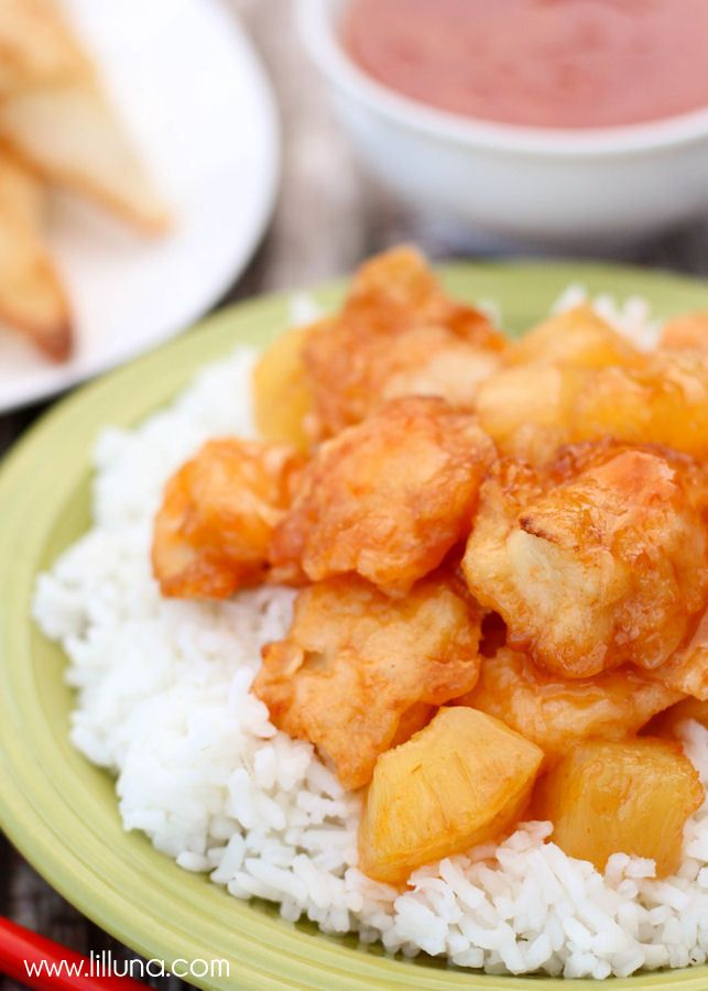 Baked Sweet and Sour Chicken - one of our favorite dishes!
