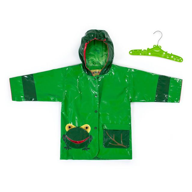 The Kidorable Frog Raincoat is made premium quality PU with a lightweight, comfy printed nylon lining for a comfortable fit.