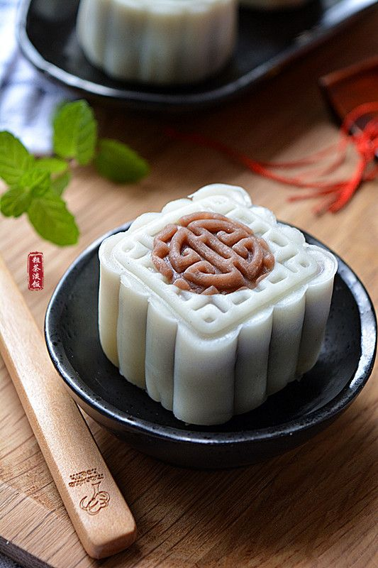 red bean moon cake  | Taiwanese food #recipe in Chinese 紅豆沙冰皮月餅