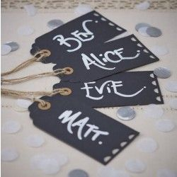 Chalkboard Luggage Tags - A Vintage Affair