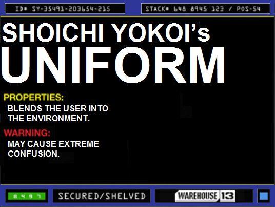 warehouse 13 artifacts Files | File:Shoichi Yokoi's Uniform.png
