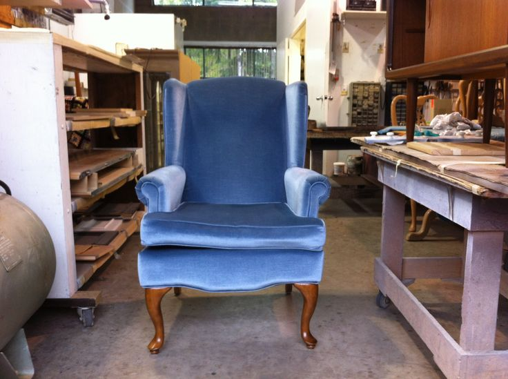 #wing #chair the before. To be #refinished and #reupholstered by AM Furniture Finishing