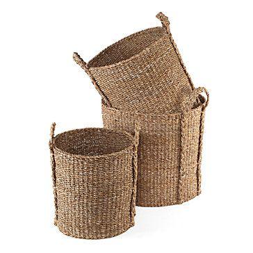 Sea Grass Baskets. $99.95.  We love the natural fiber.