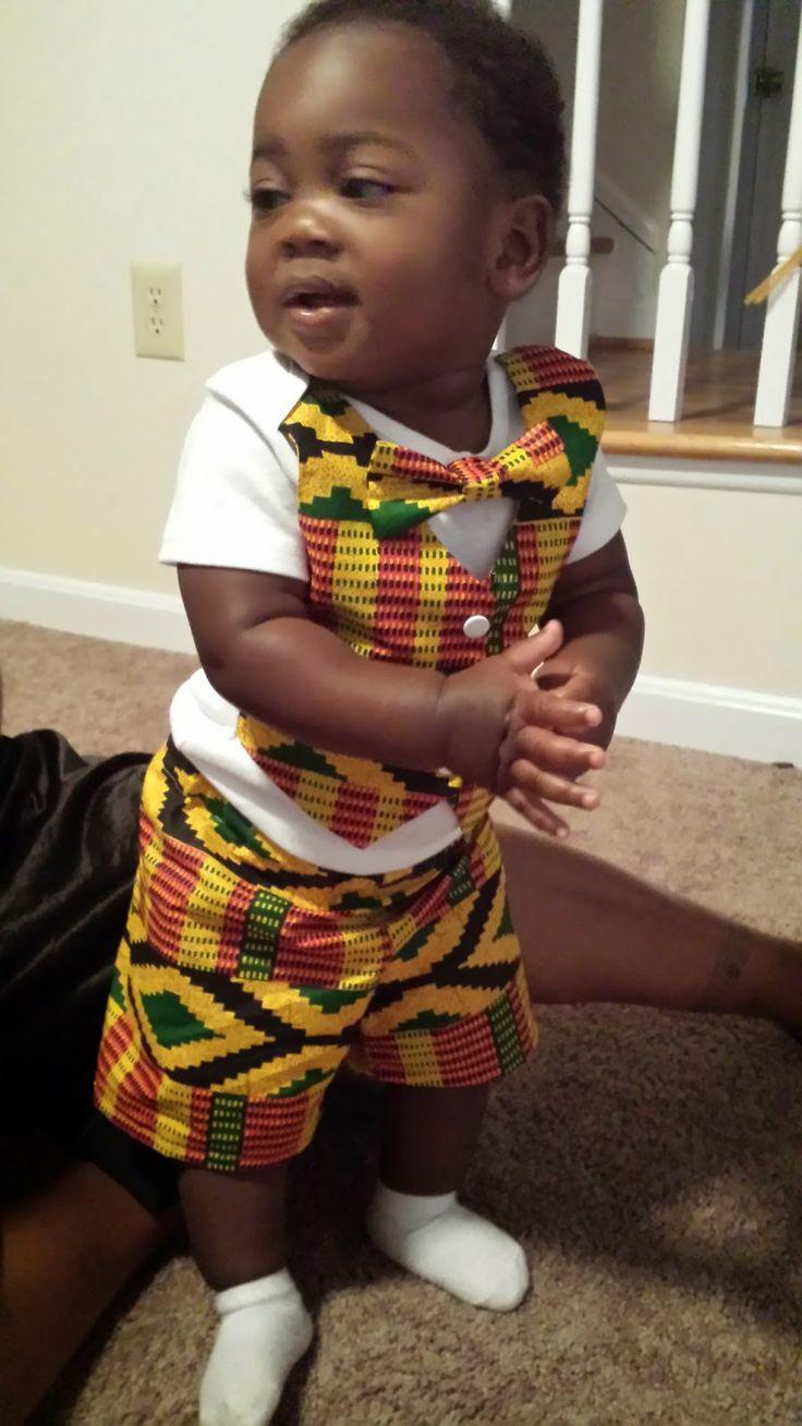 Free onsie vest pattern in African Fabric.