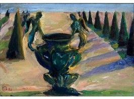 Leena Luostarinen: uurna, 1982, öljy, 44x63 cm - Hagelstam K131