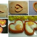 Hot Dog Heart filled with Egg - Find Fun Art Projects to Do at Home and Arts and Crafts Ideas