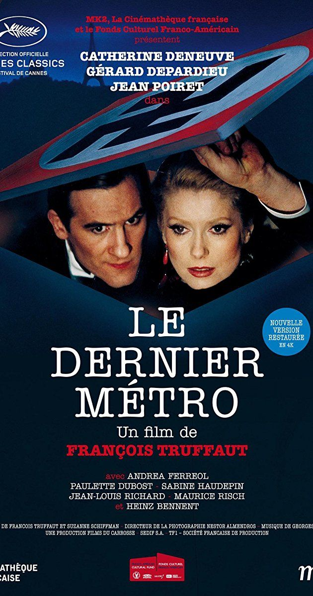 Directed by François Truffaut.  With Catherine Deneuve, Gérard Depardieu, Jean Poiret, Andréa Ferréol. In occupied Paris, an actress married to a Jewish theater owner must keep him hidden from the Nazis while doing both of their jobs.