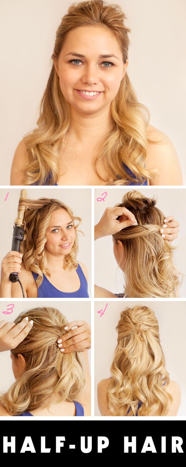 Prom Hairstyle for Short Hair  Curls for Prom  Halfup