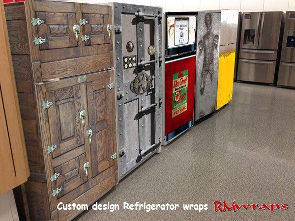 121 best images about refrigerator sticker on pinterest - Garage door vinyl wrap ...