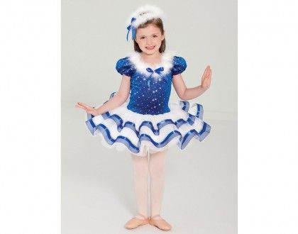 Ref RV0189 Stretch Velvet With Silver Spot Foil And Glitter Leotard Has Puff Sleeves Dance Recital CostumesBallet