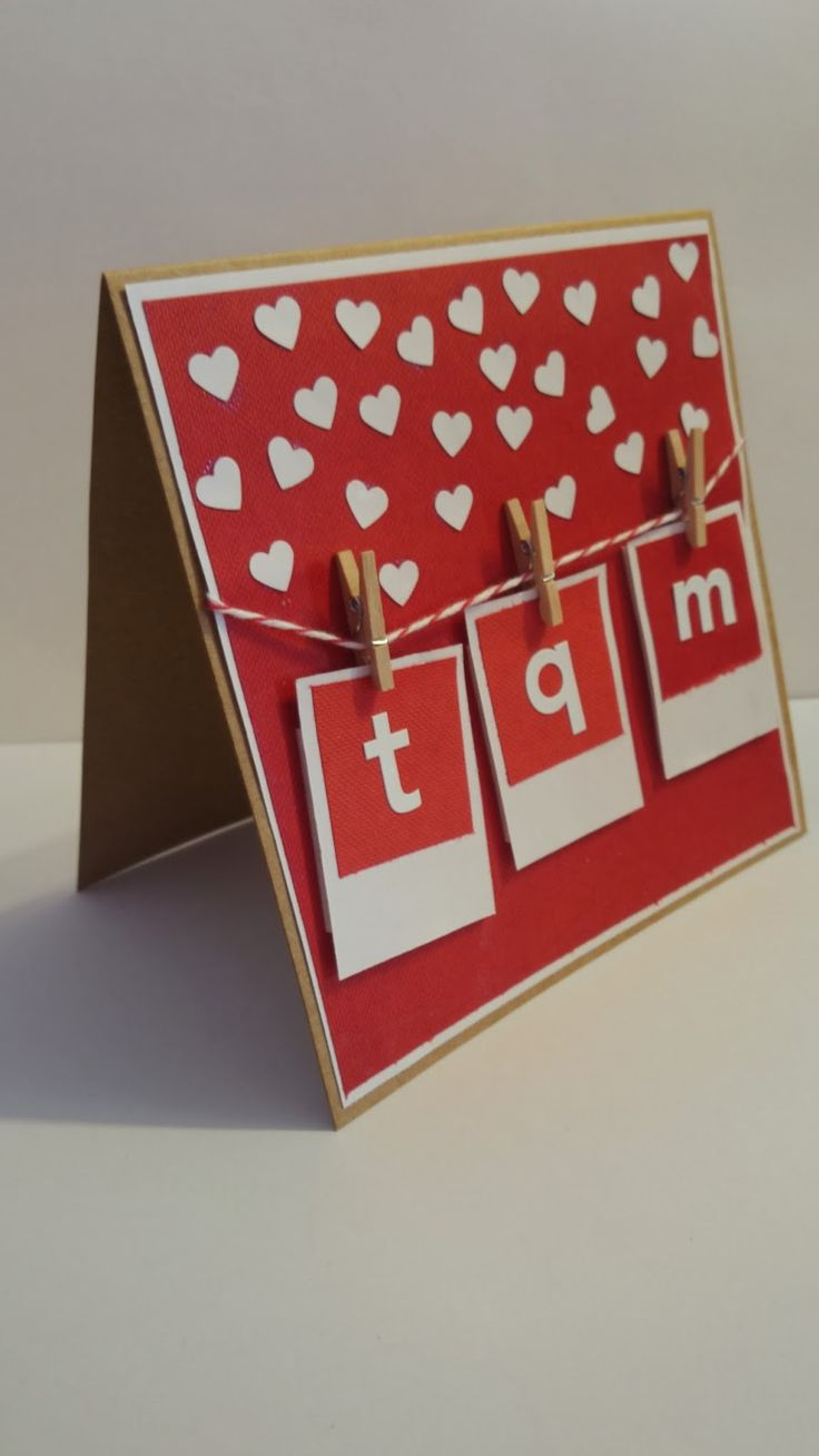Tarjeta san valentin You see hearts everywhere? Easy, takes only 1 day for V-Day :). Live this day with # CreatividadProarte. Mothers Day Cards, Valentine Day Cards, Valentine Ideas, Paper Cards, Diy Cards, Diy Birthday, Birthday Cards, Washi Tape Diy, Boyfriend Birthday
