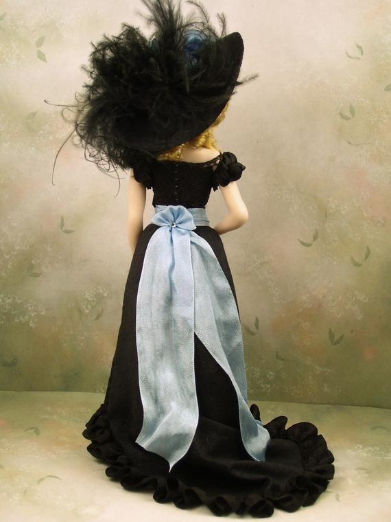 1 12th Scale Ooak Dollhouse Miniature Porcelain Victorian Edwardian Era Young Woman Doll Sabrina By Terri Davis Indian Dolls Miniatures Edwardian Era
