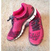 Leopard Fireberry,Grå Nike Free 5.0 V4 Dame Løbesko