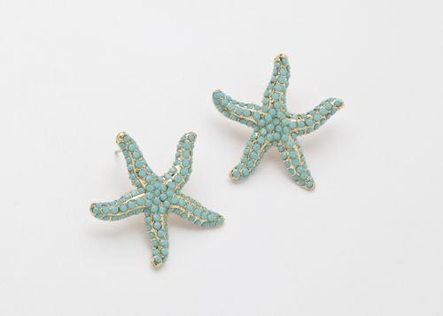 Starfish earrings: Starfish Aquamarines, Drop Earrings, Starfish Turquoi, Turquoise Earrings, Starfish Ears, Earrings W, Starfish Earrings 2, Earrings I, Jewelry Earrings