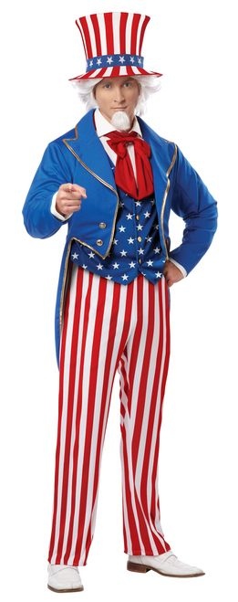 Uncle Sam USA Icon Men's Costume wants you... this Halloween! Jacket with attached vest, pants, hat and necktie. This Uncle Sam USA Icon Men's Costume is ideal for any Halloween party! #yyc #Calgary #costume #Iwantyou #UnitedStatesofAmerica