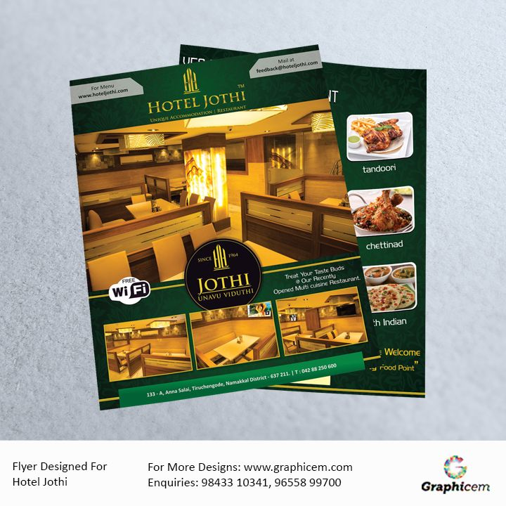 Flyer Designed For Hotel Jothi