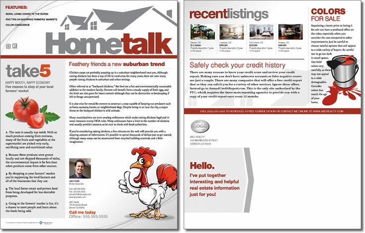 HometalkJune2012Fullpng marketing Pinterest – Real Estate Newsletter Template