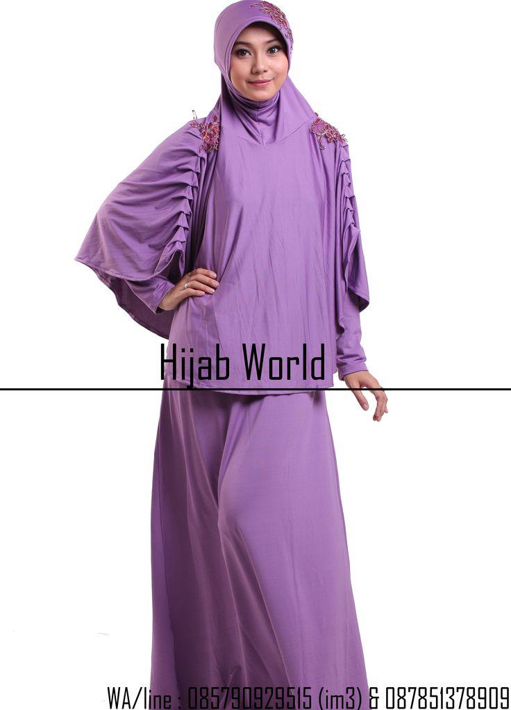 http://jilbabstation.com/gamis-syari-terbaru-jersey/ gamis syar'i terbaru Jilbab syar'i Bahan jersey dengan kombinasi brocade dibagian bahu dan pet, kode JB-DRS sms/wa 0821.4284.5152