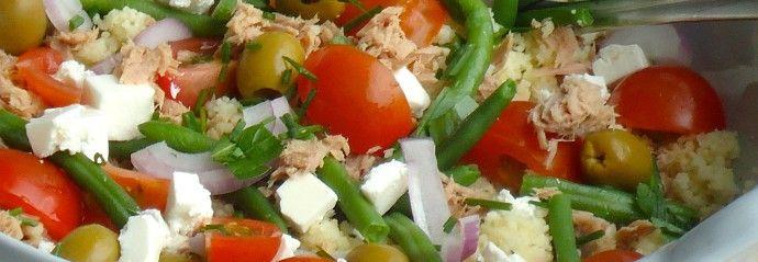 5 skinny recipes | Couscous Salade Nicoise #skinny #healty #food
