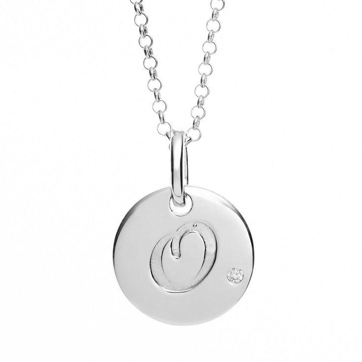 "Little Diva Diamonds Diamond Accent Sterling Silver Initial Pendant Necklace - Kids, Women's, Size: 14"", Grey"