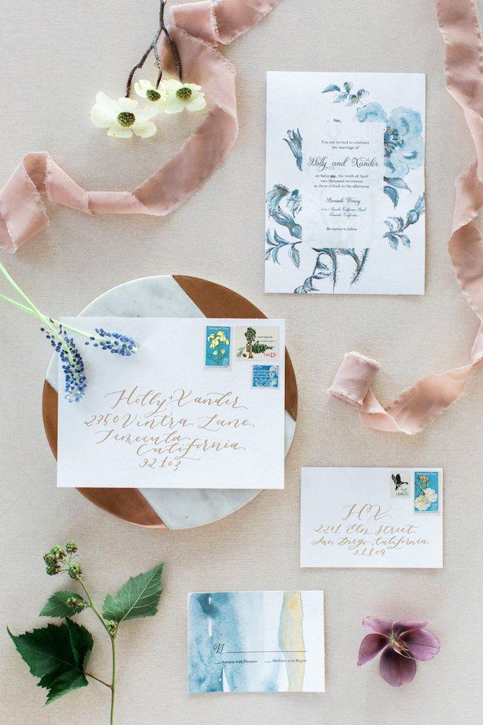 Hochzeitskarten Selber Basteln Einladungskarten Mit Wasserfarben