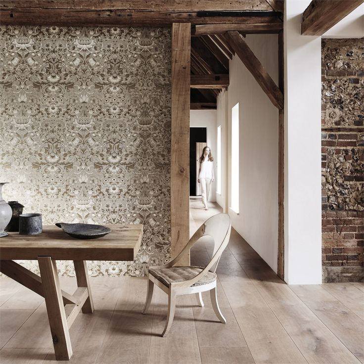 The Original Morris & Co - Arts and crafts, fabrics and wallpaper designs by William Morris & Company | Products | British/UK Fabrics and Wallpapers | Pure Lodden (DMPU216027) | Pure Wallpapers