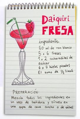 ^^ Daiquiri de fresa: ron, fresas y limón. #strawberry