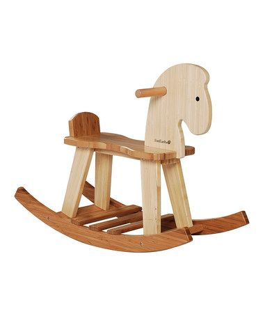 This EverEarth Bamboo Rocking Horse is perfect! #zulilyfinds {pinned by Anastasia at http://eco-babyz.com}