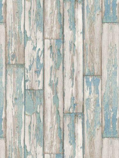 Clarke and Clarke's Peeling Planks is taken from the Wild Garden wallpaper…