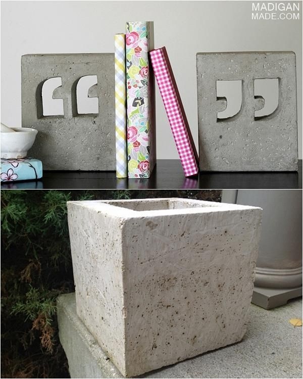 My Simple Tips for Concrete Crafts ~ Madigan Made { simple DIY ideas }
