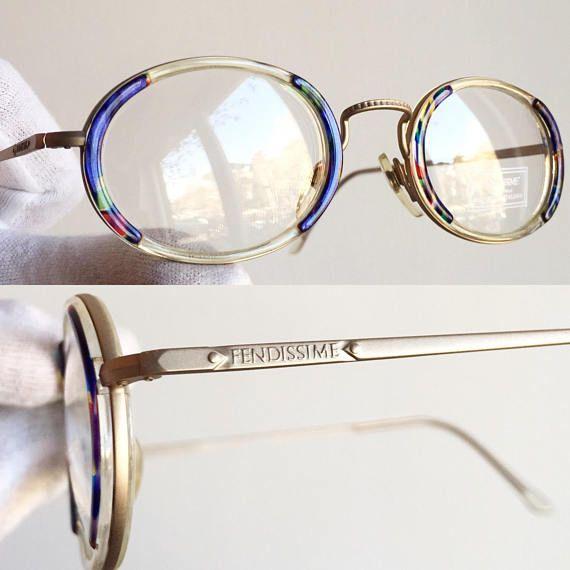19210153c2 FENDISSIME di FENDI F061 901 50-22 140 gold oval Eyewear Eyeglasses round  blue Sunglasses