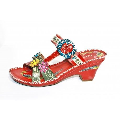Laura vita vasco rouge livraison offert cardel-chaussures.com