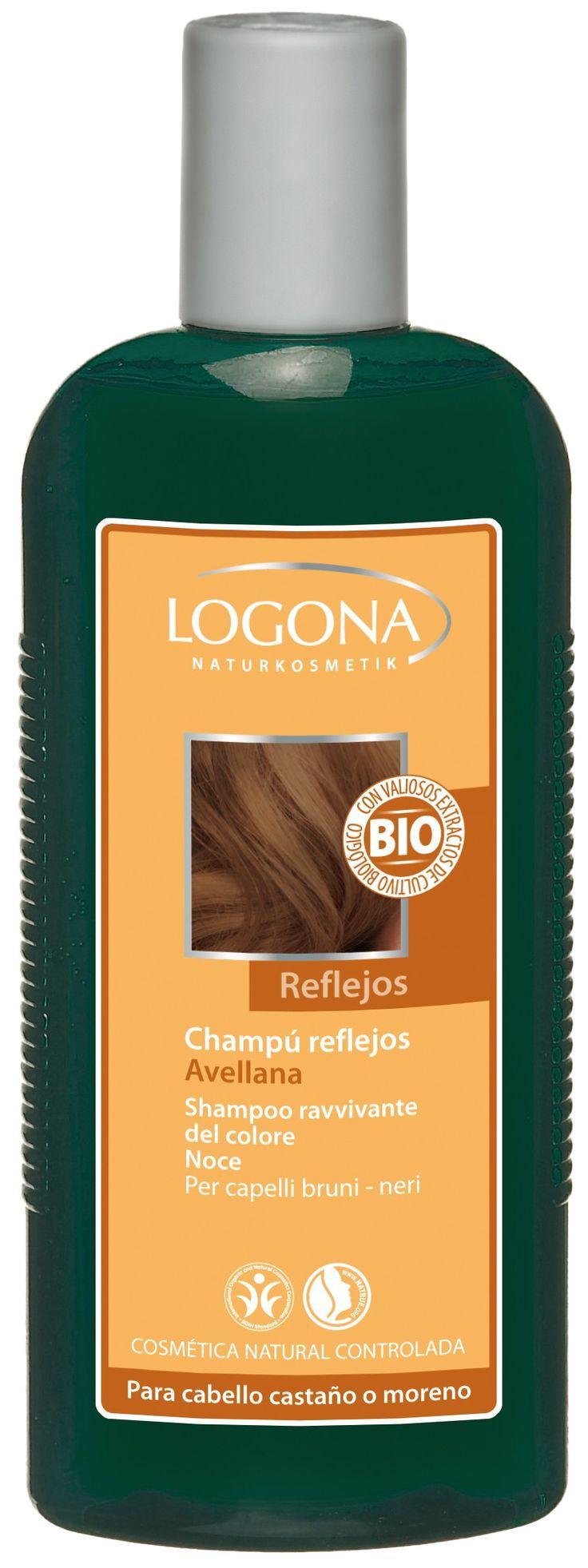 Champú reflejos avellana de Logona, champú natural para llenar de brillo los cabellos castaños y negros - Ecobelleza, cosmética ecológica certificada