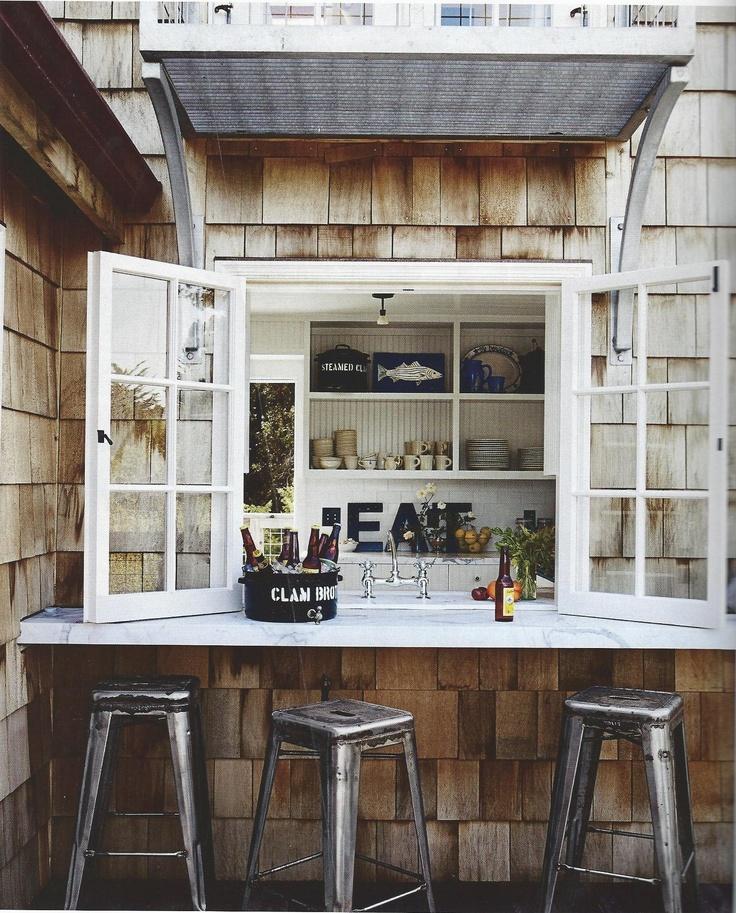 oh my - outdoor bar off kitchen window...